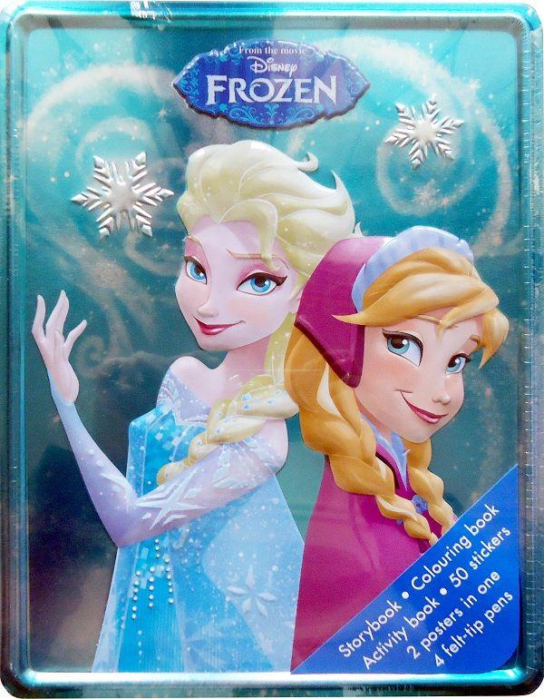 Buku Aktifitas Bahasa Inggris : Disney Frozen Happy Tin, Yuk ikutin cerita perjalan Princess Anna dan Princess Elsa!, Di dalam box ini akan ada Storybook...