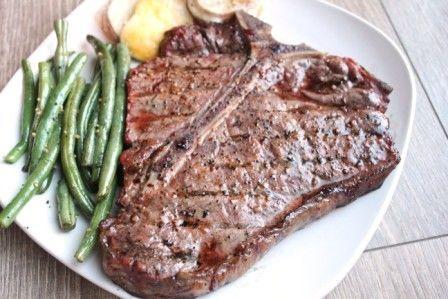 Traeger's Smoked T-bone Steaks
