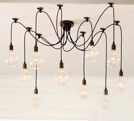 WinSoon Modern 8 Heads Pendant Ceiling Lamp Lighting Without Bulb For  Kitchen Island Living Room Lights Fixture