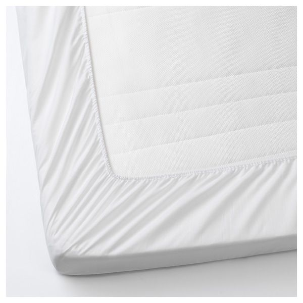 Lenast Mattress Protector White Ikea In 2020 Mattress Protector Mattress Kid Beds