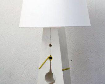 Scandinavian Wooden Lego Table Lamp от Lumoteka на Etsy