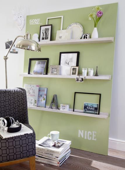 diy...easy wall decoration with picture frames