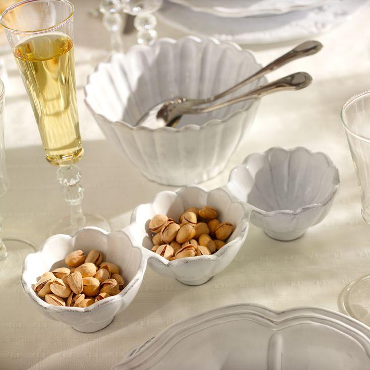 VBC casa ceramic tableware, Scallop small 3 part server Presenting by Tatjana Kern http://www.bytatjana.com/c9/Accessories