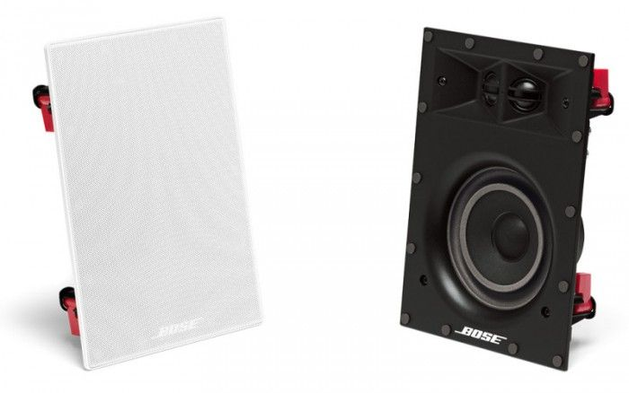 The Bose 691 Virtually Invisible Ceiling in Wall Speakers feature the latest in wall technology and a compact design meaning they won't be seen.