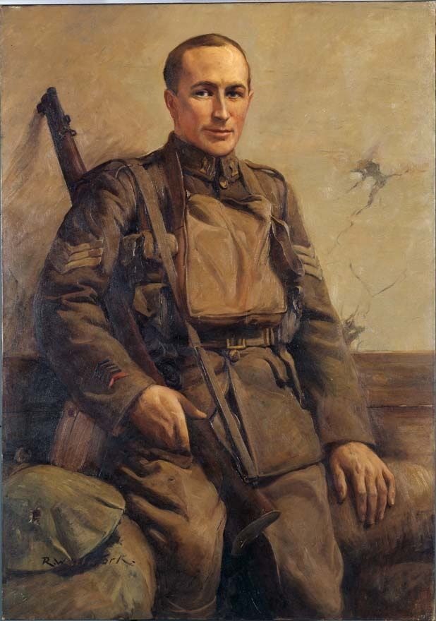 Painting of Richard Travis VC | NZHistory, New Zealand history online