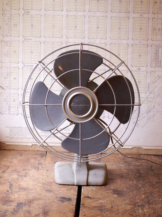 Vintage Kenmore Desk Fan  Retro Midcentury Mad Men by CopperAndTin, $56.00