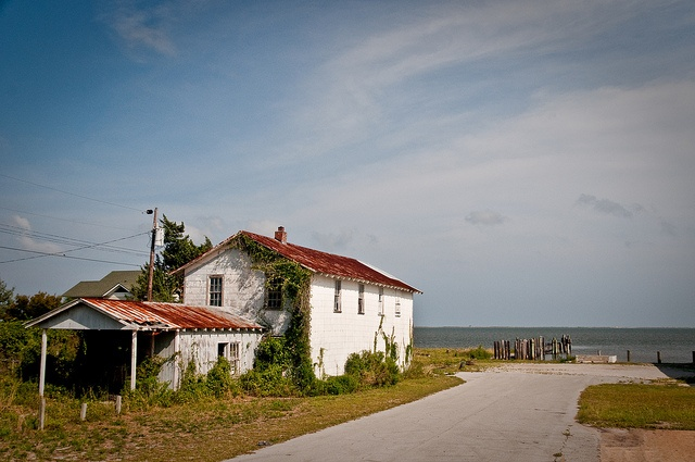 one of mine.  abandoned fish house in Atlantic, NC.
