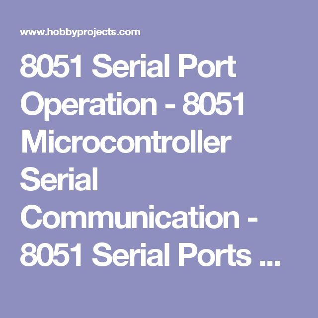 8051 Serial Port Operation - 8051 Microcontroller Serial Communication -  8051 Serial Ports Setting