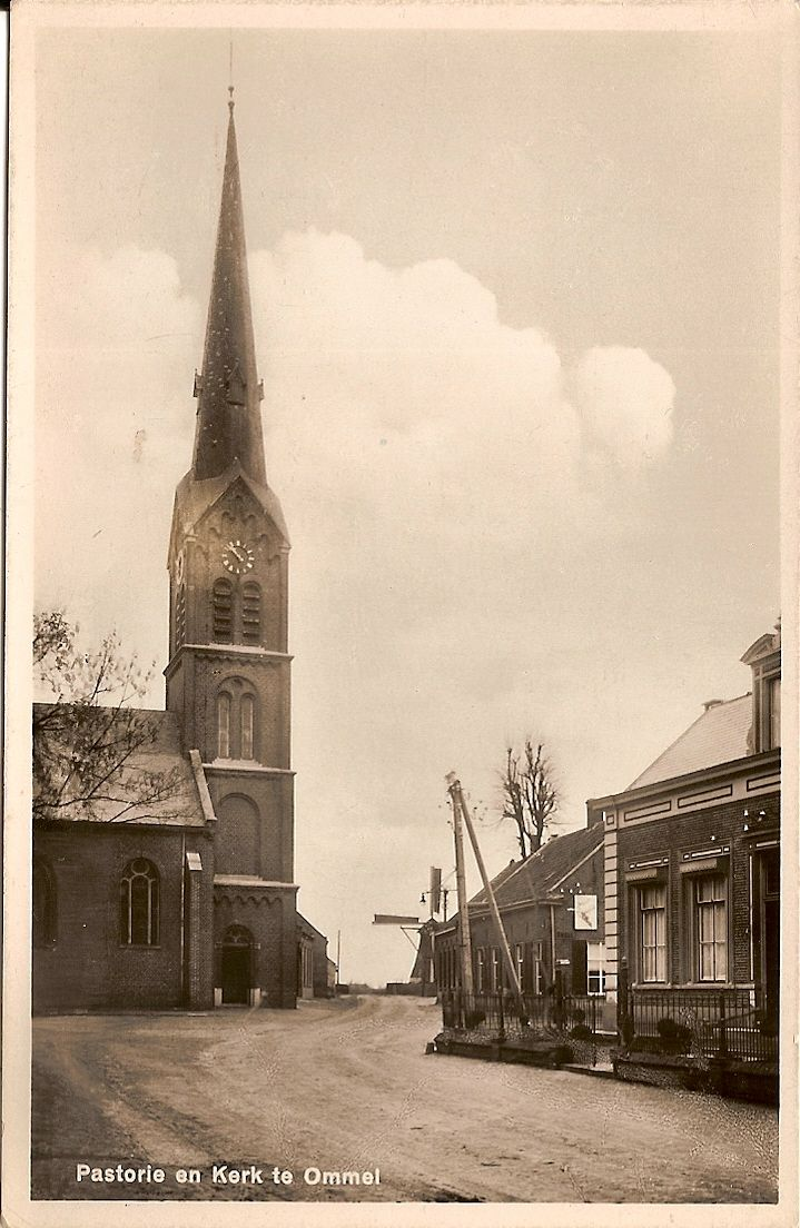 Pastorie en kerk Ommel
