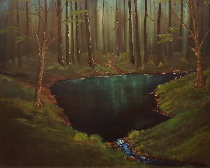 Peaceful Water  Oil on canvas Anne Karin Stølan