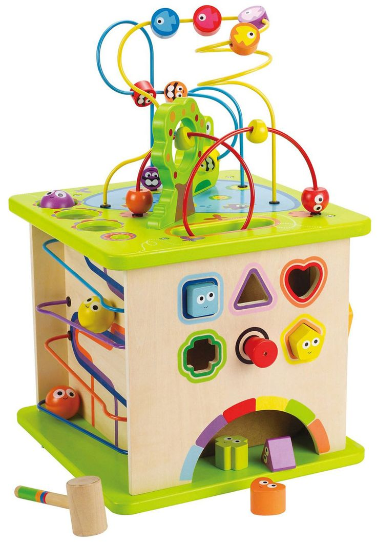 Hape-Wooden Baby Toys-Country Critter Play Cube  $219.95  #limetreekids #play #kids #toys #woodentoys #maze