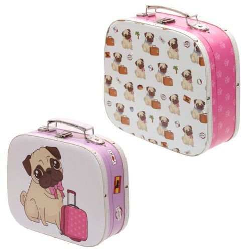 #cute #pug PRICE £22.99 Cute Pug Dog Wooden Case Trinket Boxes set of 2, Dimensions: Height 21 - 25.5cm Width 26 - 29cm Depth 9 - 10.5cm. Lots more pug cuteness in our shop ;)