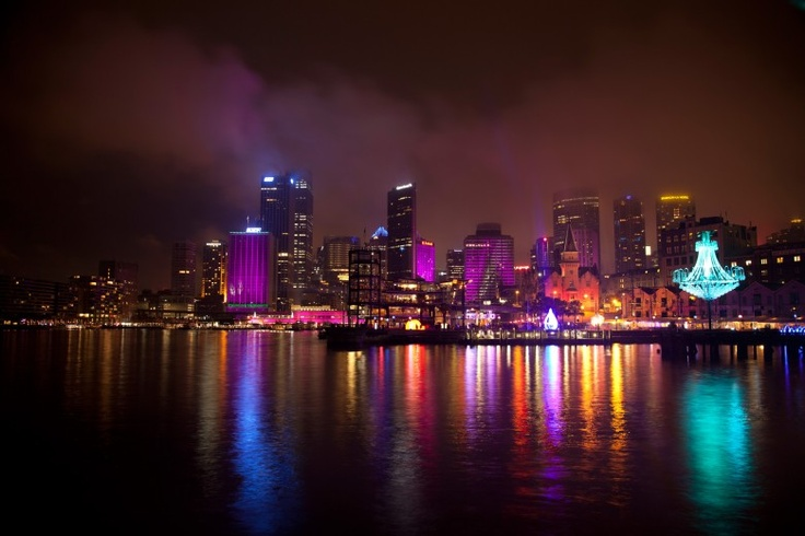 Vivid Sydney  by nicole bourke, Colourful reflections  http://www.purplelux.com/vivid-sydney/