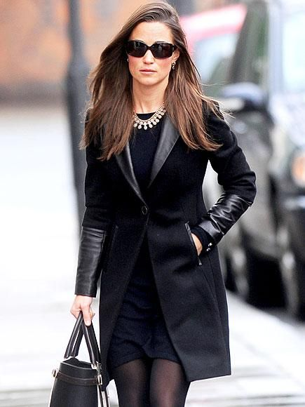 Pippa Middleton keeps it classy in an-all black ensemble on her way to meet up with friends in West London. http://www.people.com/people/gallery/0,,20776285,00.html#30084947