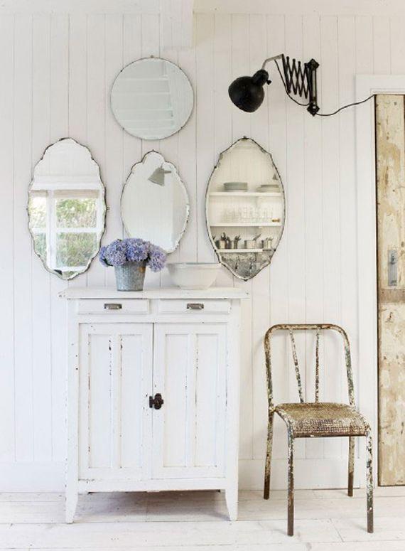 17 mejores ideas sobre espejos antiguos en pinterest for Ideas para revestir paredes