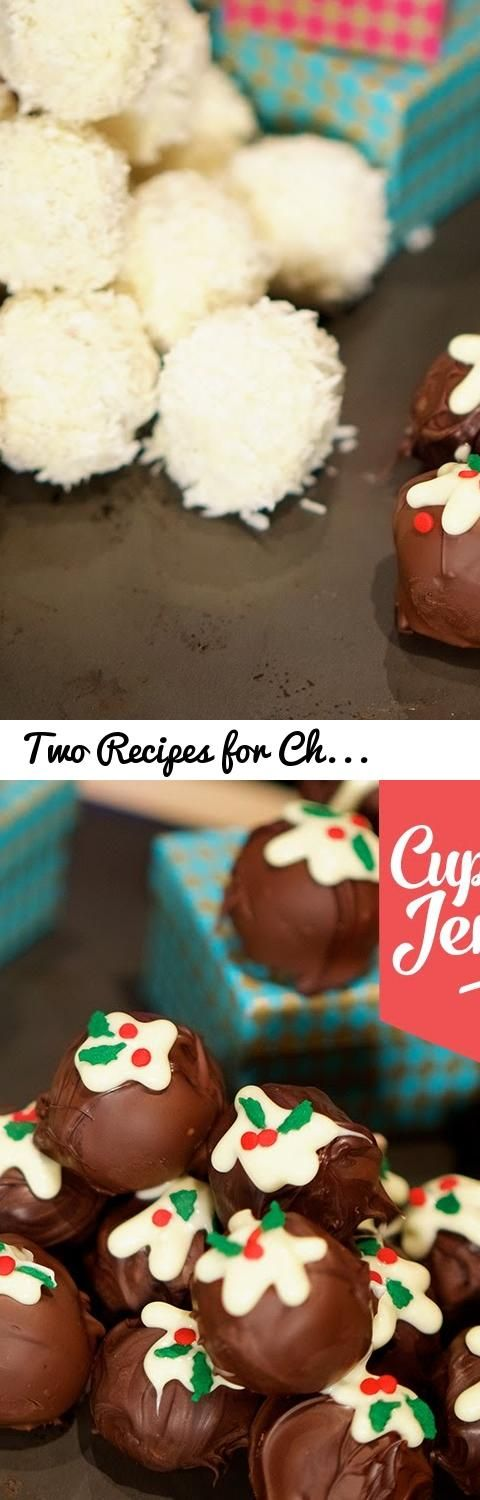 Two Recipes for Christmas Truffles! | Cupcake Jemma... Tags: christmas, christmas baking, truffles, chocolate, chocolate truffles, brandy, alcohol, booze, hand made truffles, mince pie, christmas pudding, mini christmas pudding, xmas, cupcake jemma, baking, home made, white chocolate, dessicated coconut, hand made gift, holidays, festive baking, sweets, candy, candy