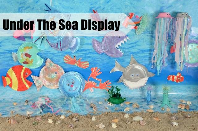 Under the Sea Display #LearningIsFun! Including lots of lovely ideas for art and craft activities
