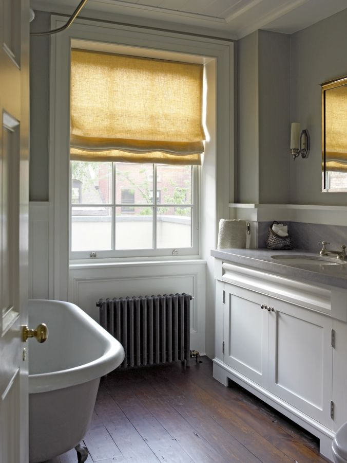 Historic Federal style bath...I could so take a nice hot bath in this cozy bathroom RIGHT NOW!