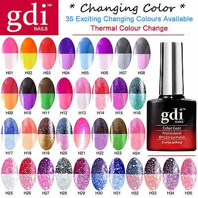 All New GDi Nails Thermal Color Change UV LED Soak Off Gel Nail Polish