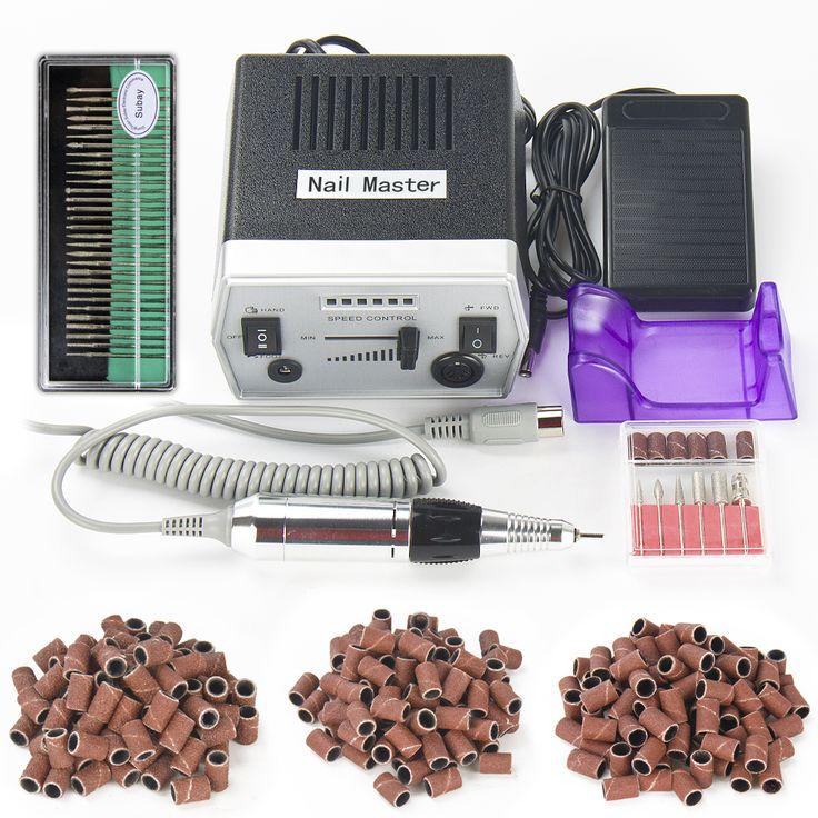 30000RPM Black Pro Electric Nail Art Drill Machine Nail Equipment Manicure Pedicure Files Electric Manicure Drill & Accessory