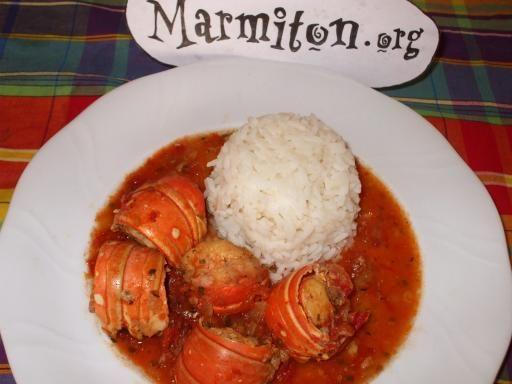 Fricassée de queues de langouste (créole) - Recette de cuisine Marmiton : une recette