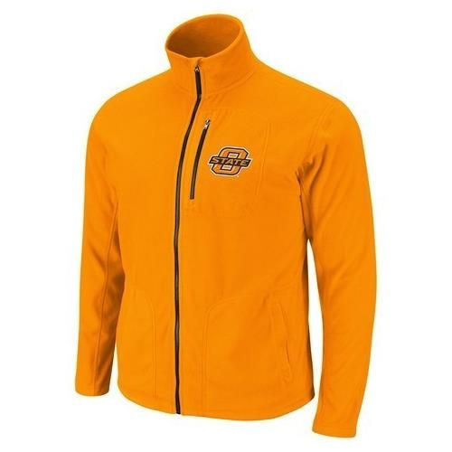 Oklahoma State University Men's Fleece Jacket Lightweight Full Zip Fleece
