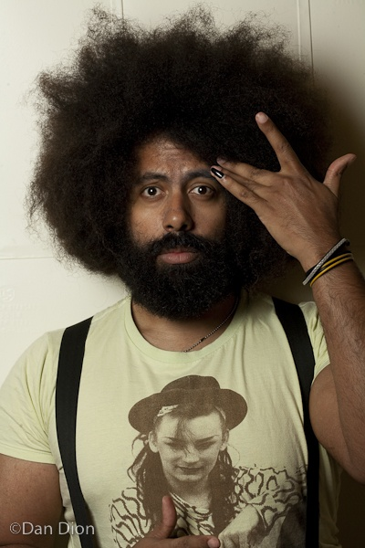 Reggie Watts----Do yourself a favor and watch his stuff on netflix. you will die from laughter and shock from his talent