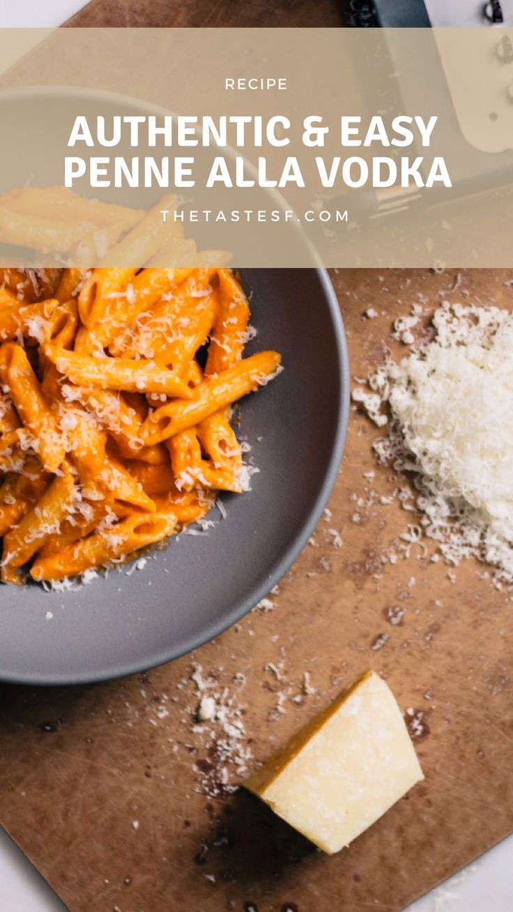 An easy pasta recipe. Penne Alla Vodka is easy with only a few ingredients. Try this authentic Italian recipe made with tomato sauce, parmesan cheese, and vodka!