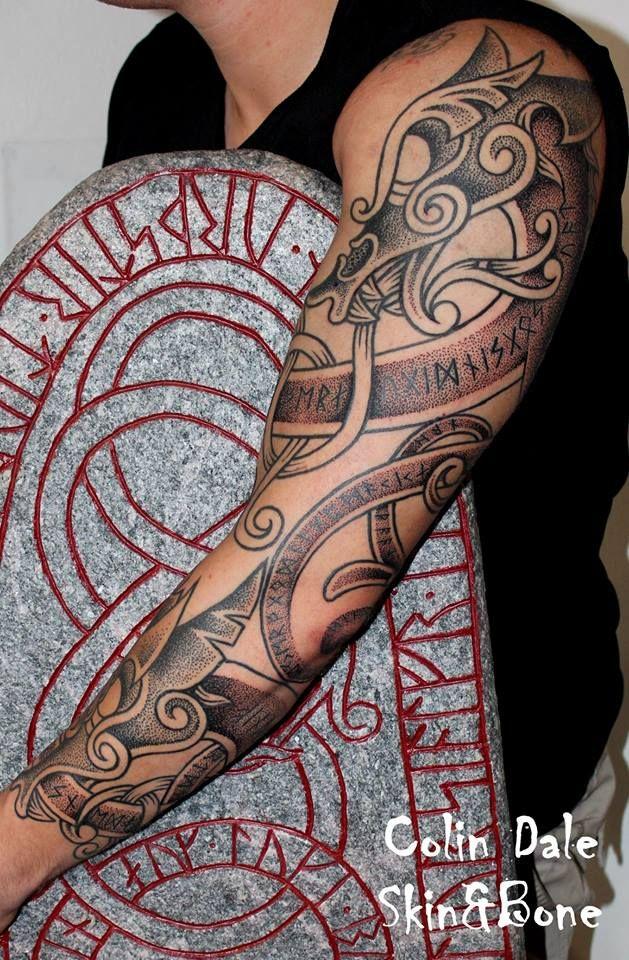 Norse Dragon: Colin Dale Tattoo, Denmark