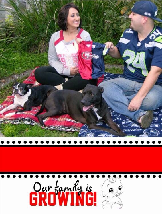 Best 25 Sports pregnancy announcement ideas – Football Birth Announcements