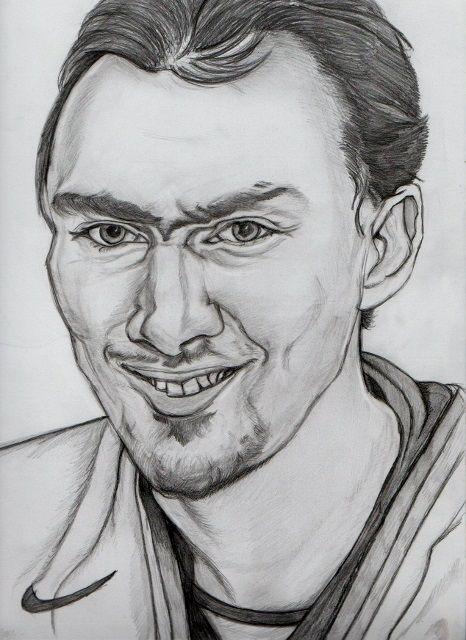 Miroslav Šatan amatérska kresba ceruzkou
