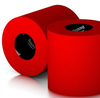 red toilet paper. Really?