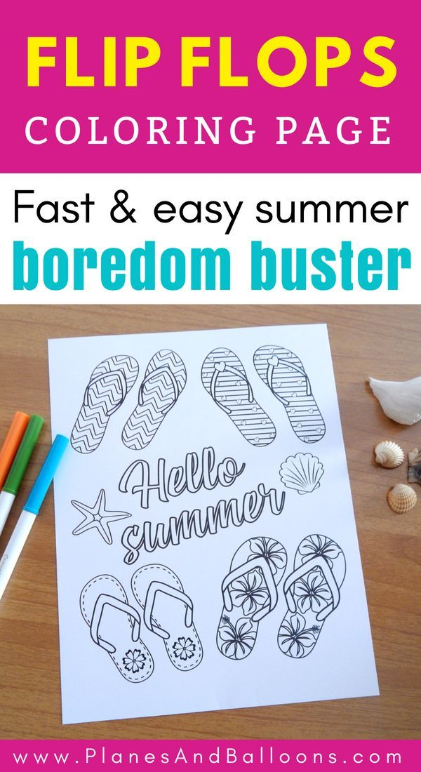 Summer Coloring Pages For Kids Free Printable I Love These Adorable Flip Flops Summerboredombusters Flipflops Coloringpagesforkids Summeractivities