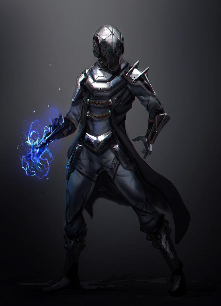 ArtStation Psi Knight Max Emmert HUMAN REVOLUTION Armor Concept Cyberpunk Character Art