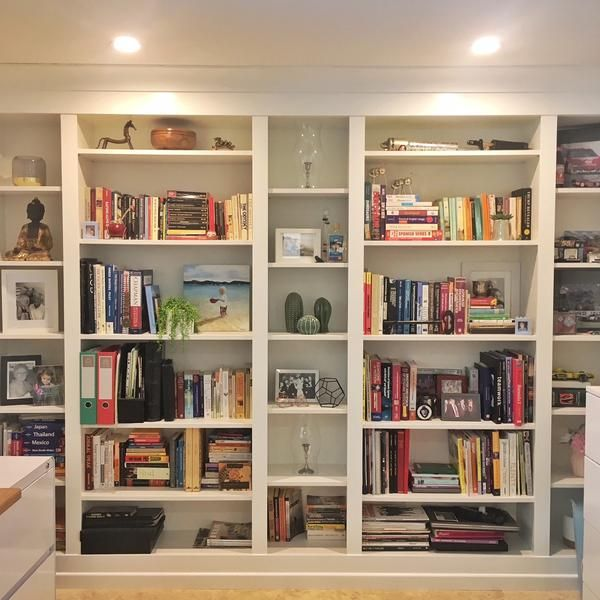 Diy Home Bar Built From Billy Bookcases: DIY Project: Built-in IKEA BILLY Bookcase In 2019