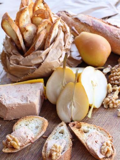Recette de Toast au foie gras et champignons