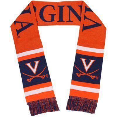 Virginia Cavaliers Team Stripe Scarf - Orange/Navy Blue