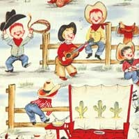 If I were ever to have another baby boy, I would love to do a vintage cowboy nursery.  So cute!
