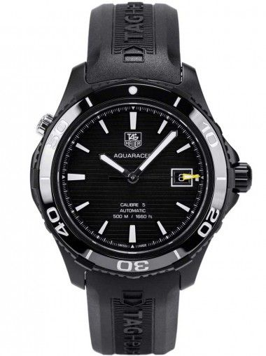 Tag Heuer Aquaracer Black Rubber Watch WAK2180.FT6027