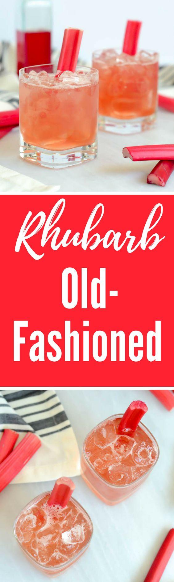 Rhubarb Old-Fashioned | CaliGirlCooking.com