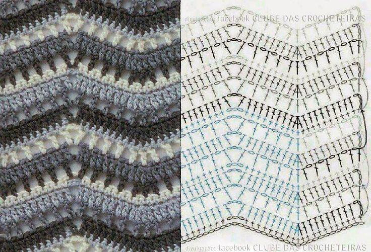 581 best CROCHET CHEVRON RIPPLE -WAVE images on Pinterest | Blankets ...