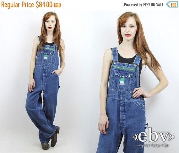 Vintage 90s Denim Overalls Liberty Overalls S M L by shopEBV