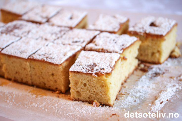 Gresk yoghurtkake i langpanne med vanilje og appelsin | Det søte liv