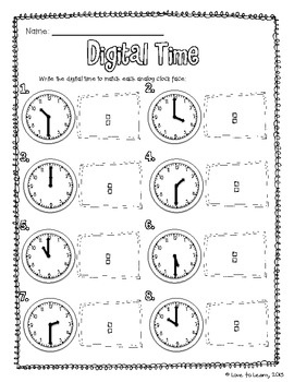 83 best images about telling time on pinterest anchor charts summer school activities and. Black Bedroom Furniture Sets. Home Design Ideas