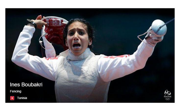 L'escrimeuse tunisienne Ines Boubakri a effectué une bonne entrée dans le tournoi d'escrime lors des Jeux Olympiques Rio…