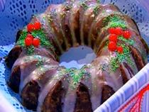 Receta: Narda Lepes/ Torta de navidad con frutas secas tropicales glaseadas
