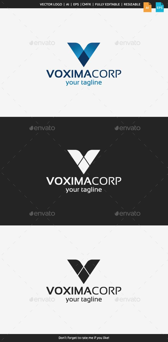 Vaxima Logo  Letter V — Vector EPS #company logo #agency • Available here → https://graphicriver.net/item/vaxima-logo-letter-v/9873903?ref=pxcr