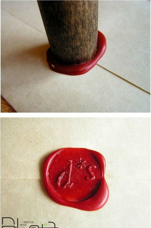 HOW TO: Create a Home Made Wax Seal (16 Pics)  >>This would be perfect for wedding invitations