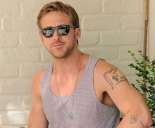"Ryan Gosling ""The Giving Tree"" tattoo. Because, I didn't already love this guy."