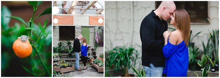 Greenhouse Engagement Session in Newport News Virginia Luke & Ashley Photography